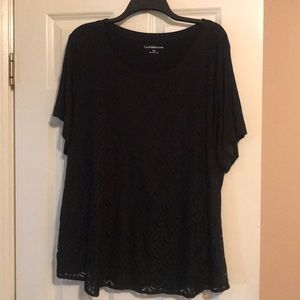 Black blouse that has never been worn.